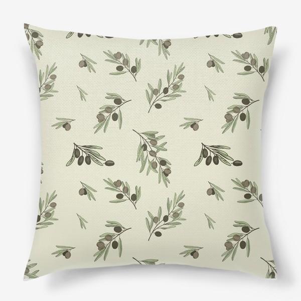 Подушка «Оливковые ветви-1»
