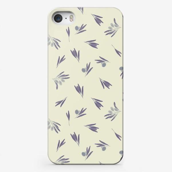 Чехол iPhone «Синие маслины»