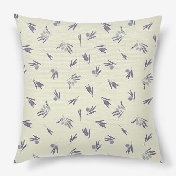 Подушка «Синие маслины»