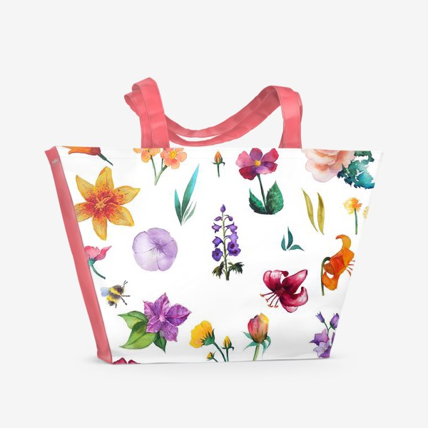 Пляжная сумка «Садовые цветы»