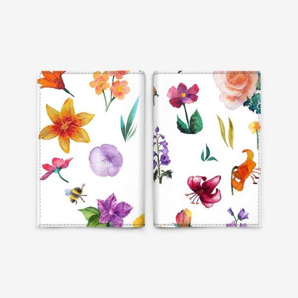 Обложка для паспорта «Садовые цветы»