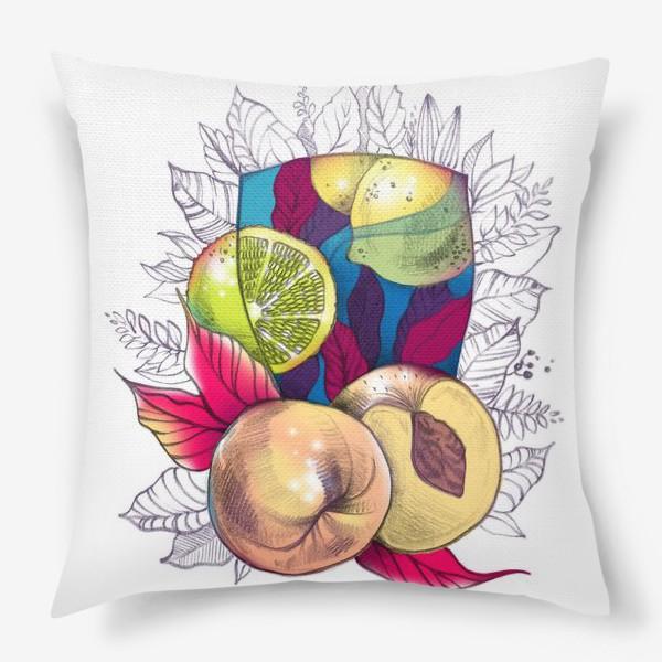Подушка «Персиковый лимонад»