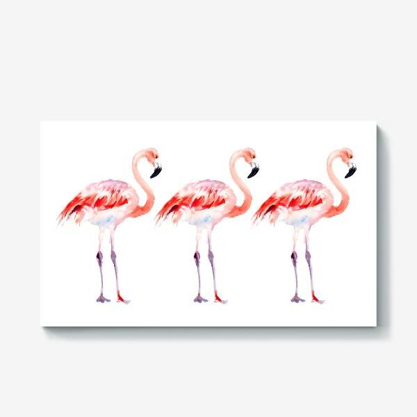 Холст «Фламинго»