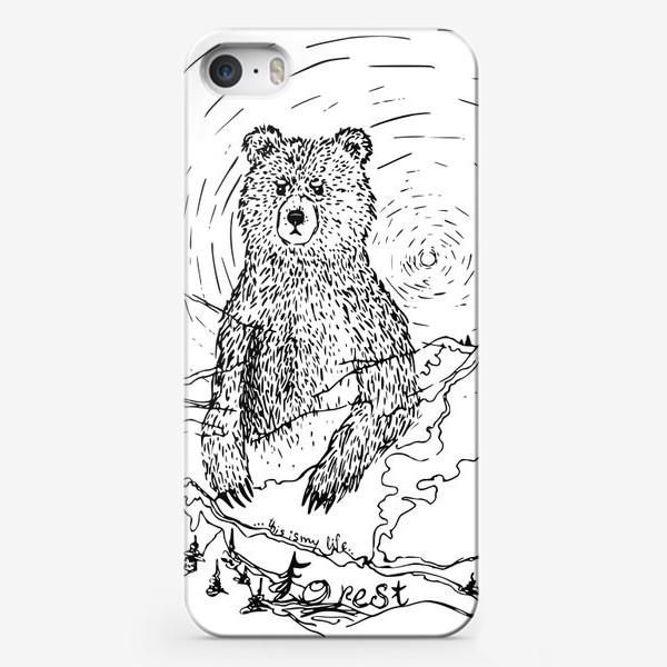 Чехол iPhone «Медведь - хранитель леса»