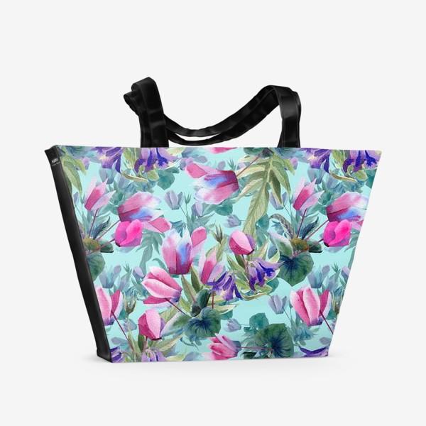 Пляжная сумка «Summer flowers»