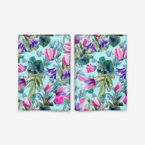 Обложка для паспорта «Summer flowers»