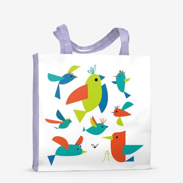 Сумка-шоппер «пташки»