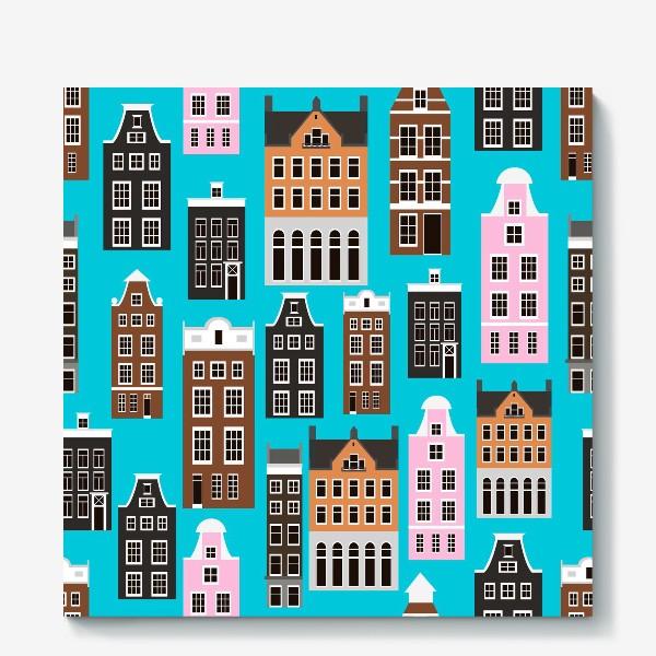 Холст «Дома Амстердама»