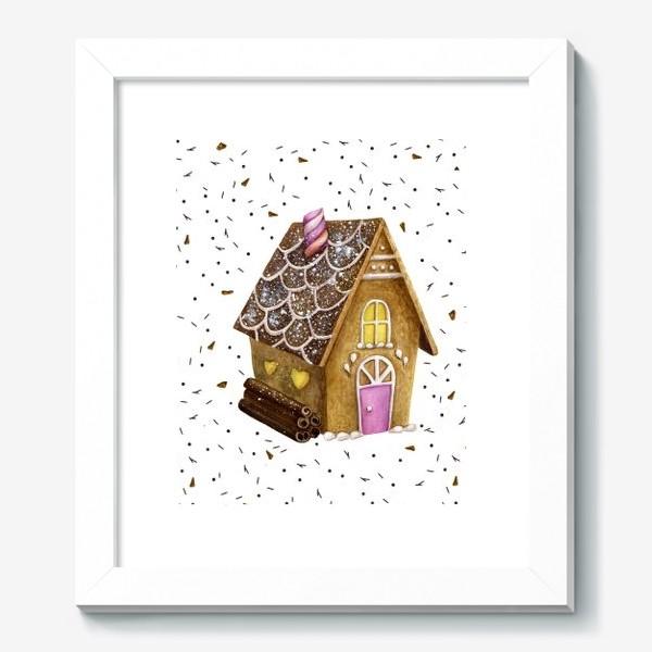 Картина «Пряничный домик. Рождество. Новый год.»