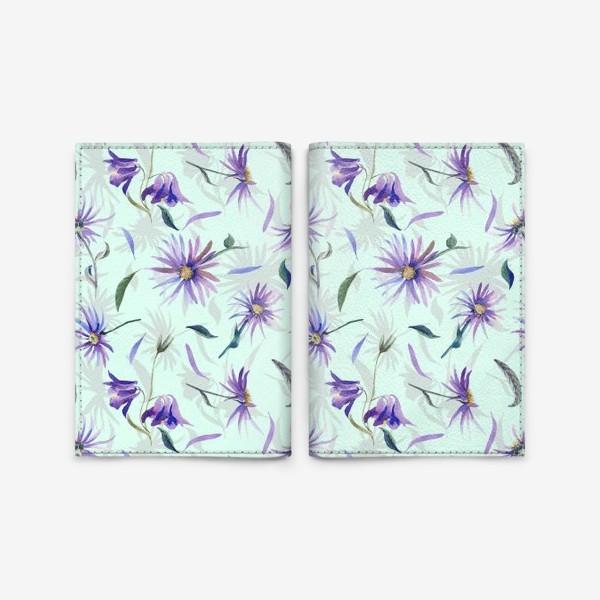 Обложка для паспорта «Watercolor flowers»