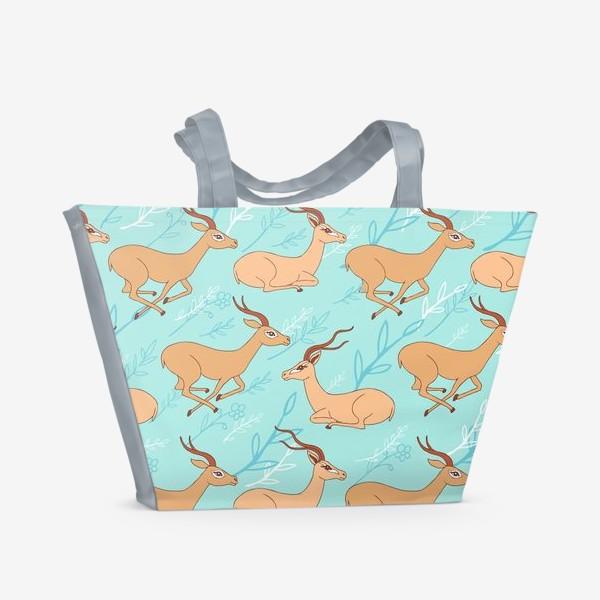 Пляжная сумка «Газель паттерн»