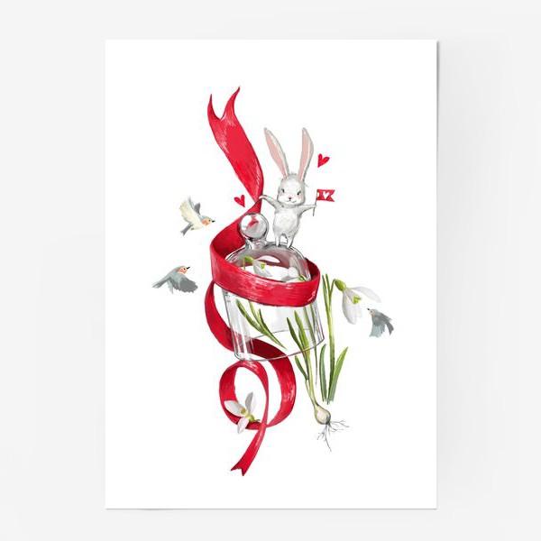 Постер «весенний зайчик»