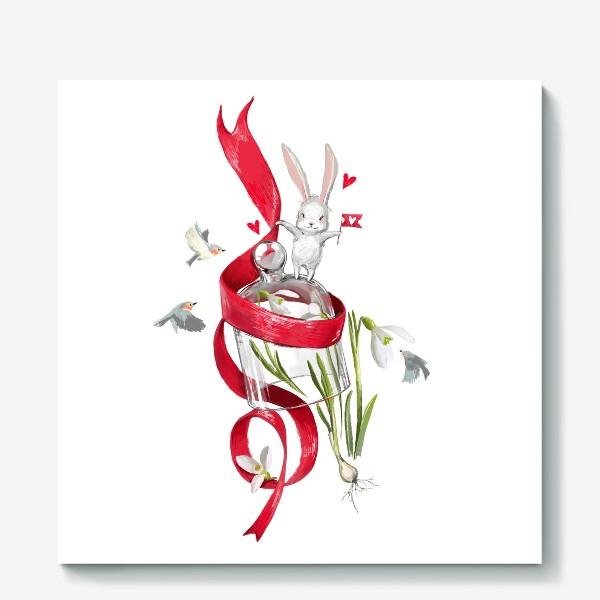 Холст «весенний зайчик»