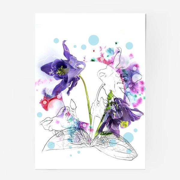 Постер «Цветы и акварели»