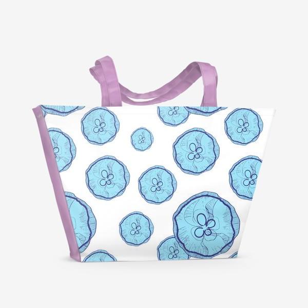 Пляжная сумка «Голубые медузы»