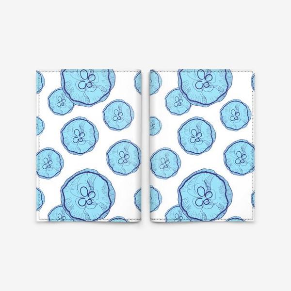 Обложка для паспорта «Голубые медузы»