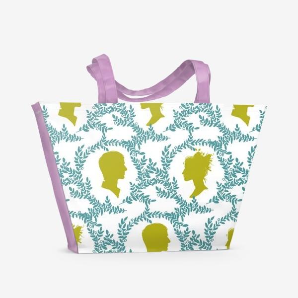Пляжная сумка «Паттерн с виньетками»