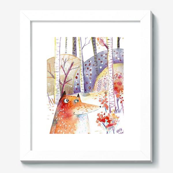 Картина «Лисы осенью»