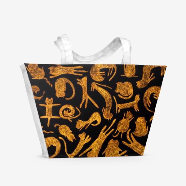 Пляжная сумка «рыжие коты»