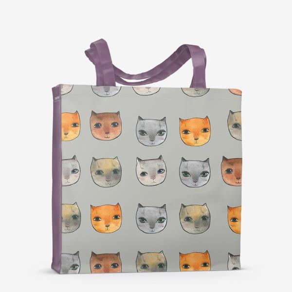 Сумка-шоппер «котики»