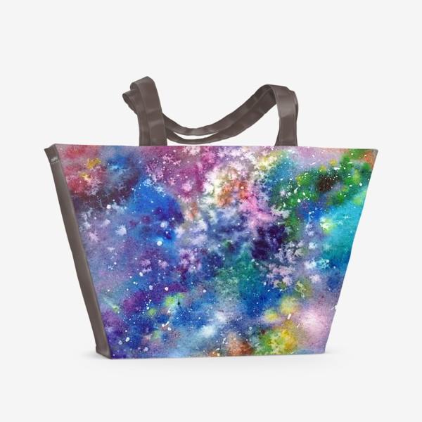 Пляжная сумка «Космический фон. Вселенная.»