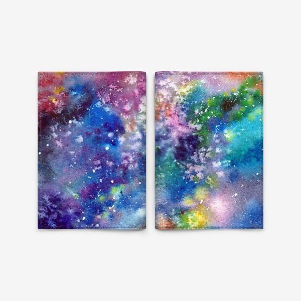 Обложка для паспорта «Космический фон. Вселенная.»
