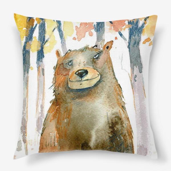 Подушка «Миша в лесу »