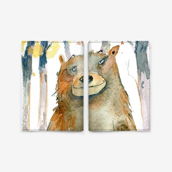 Обложка для паспорта «Миша в лесу »