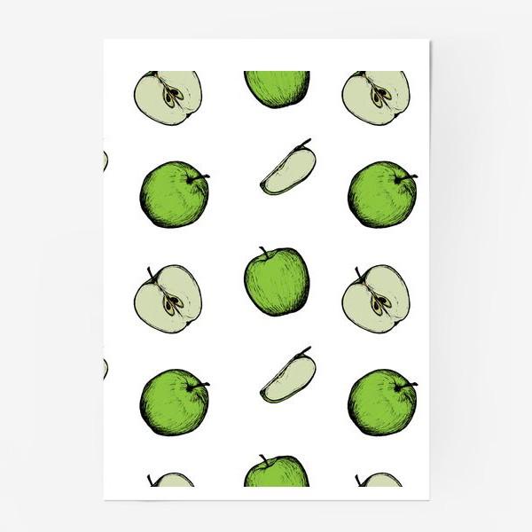 Постер «Зеленые яблоки»