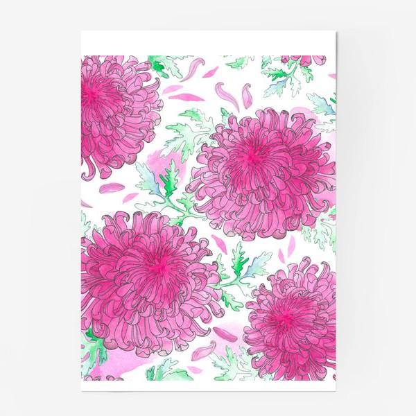 Постер «Японская хризантема (паттерн)»