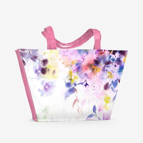 Пляжная сумка «Цветочный ветер»