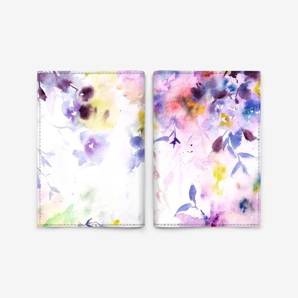 Обложка для паспорта «Цветочный ветер»