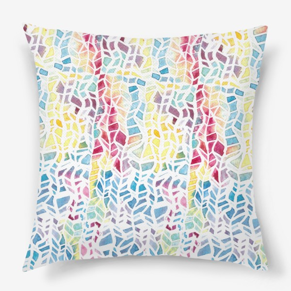Подушка «Акварельный абстрактный паттерн»