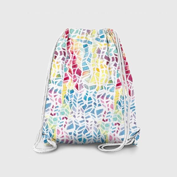 Рюкзак «Акварельный абстрактный паттерн»