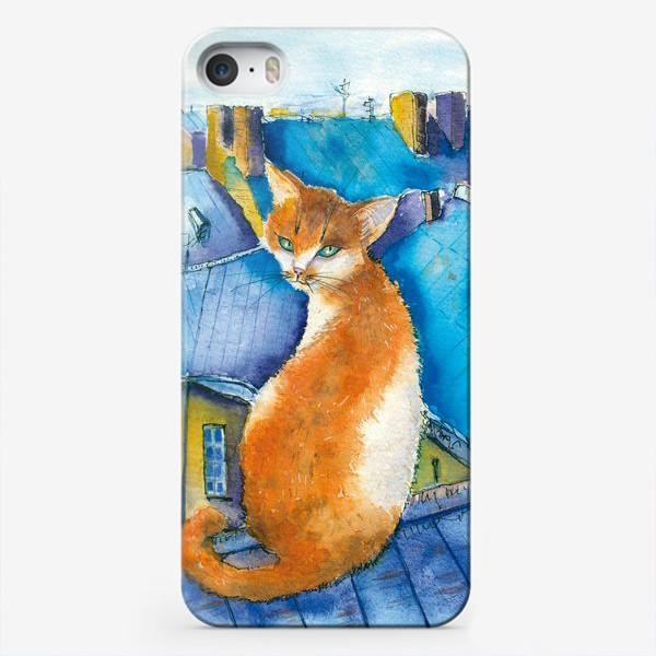 Чехол iPhone «Котик на крышах Питера»