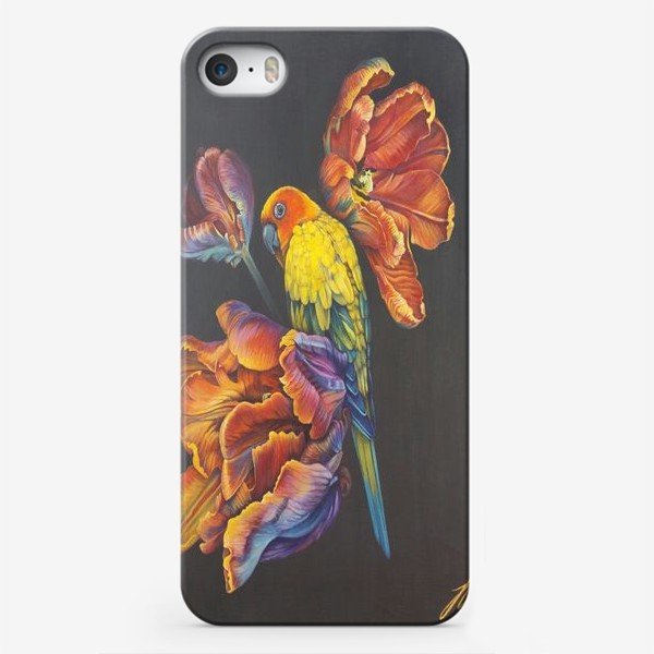 Чехол iPhone «Попугайные тюльпаны. »