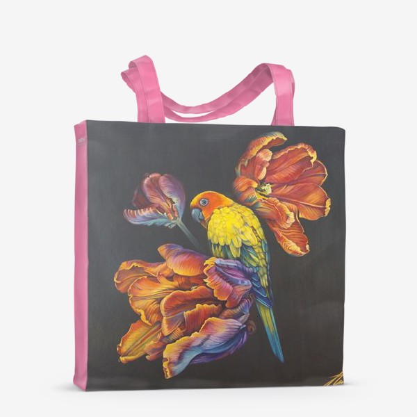 Сумка-шоппер «Попугайные тюльпаны. »