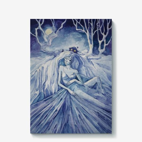 Холст «Снежная ночь»