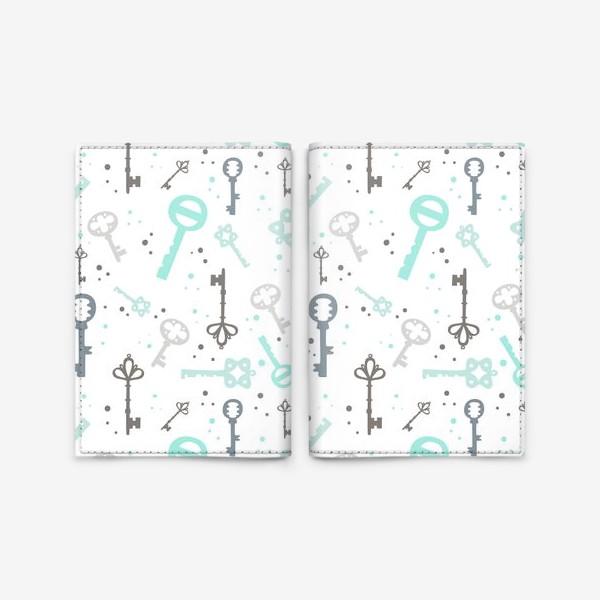 """Обложка для паспорта «Паттерн """"Винтажные ключи""""2»"""