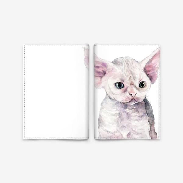 Обложка для паспорта «белый котенок девонрекс»
