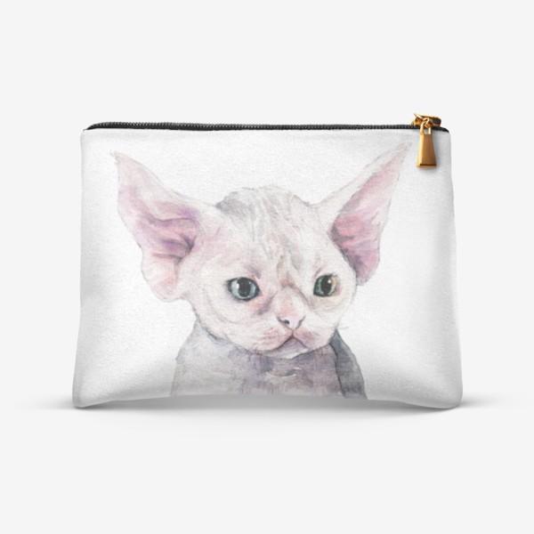 Косметичка «белый котенок девонрекс»