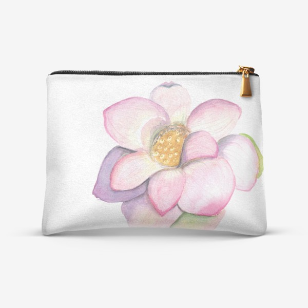 Косметичка «Акварельный цветок лотоса»