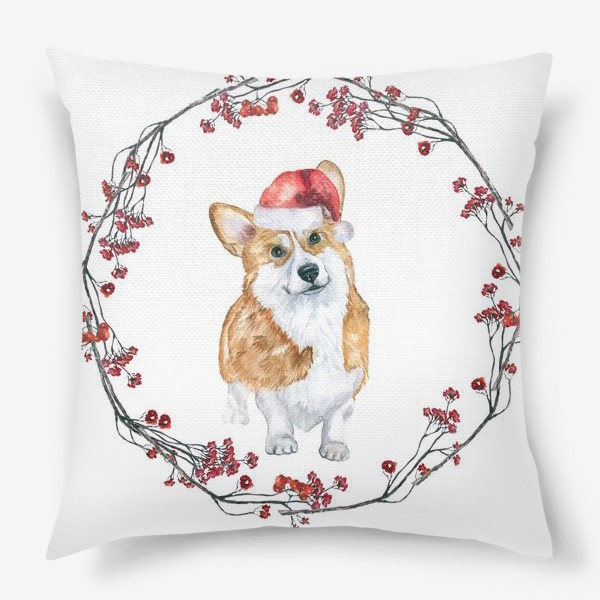 Подушка «Собаки Новогодний символ »