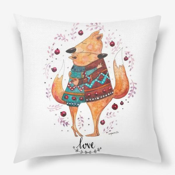 Подушка «Влюбленные лисички»