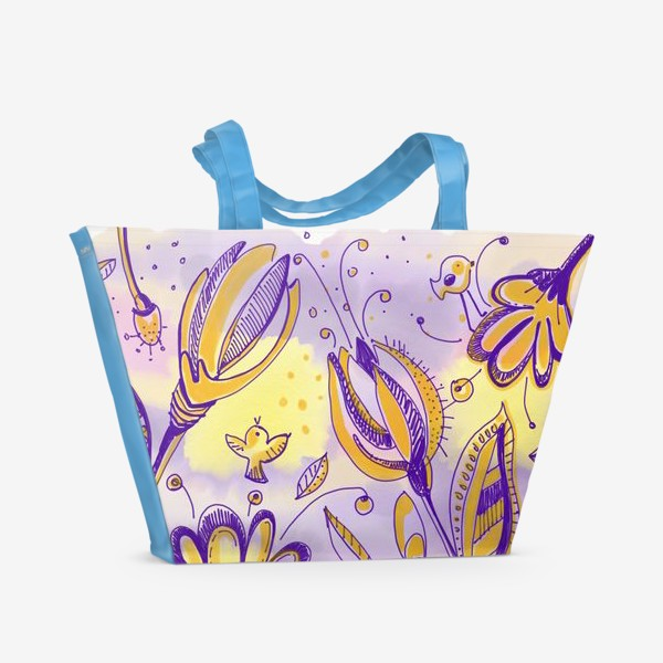 Пляжная сумка «Васильки»