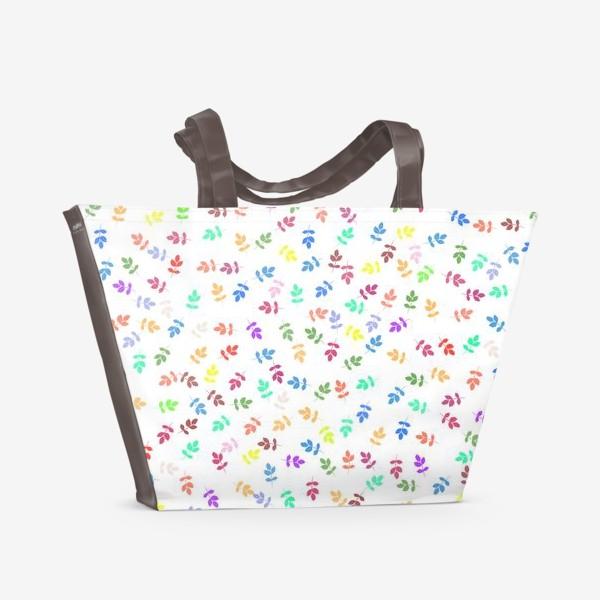 Пляжная сумка «Яркий листопад »