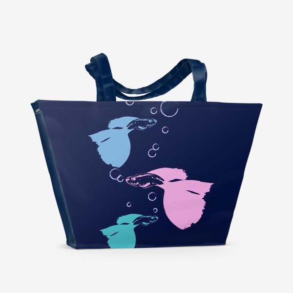 Пляжная сумка «Нежные рябки»