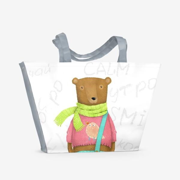 Пляжная сумка «Мишкино утро»