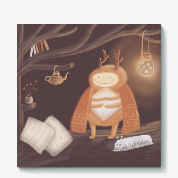 Холст «Уютный жук»