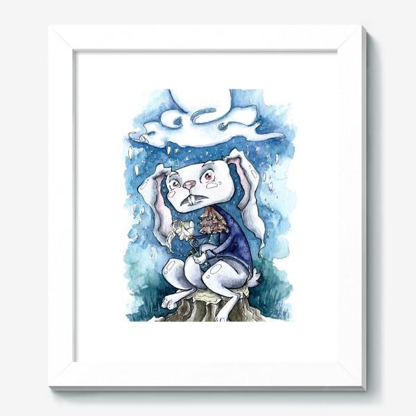 Картина «Белый кролик»
